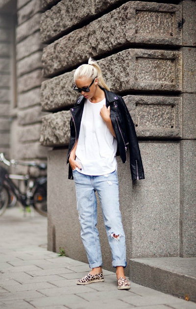 denim leather and white