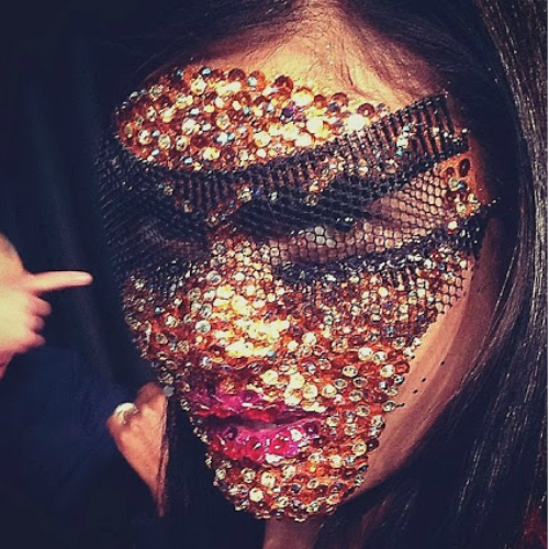 givenchy-spring-2014-mask-sequins