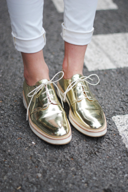 rock it metallic loafers