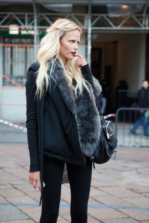 street black and fur