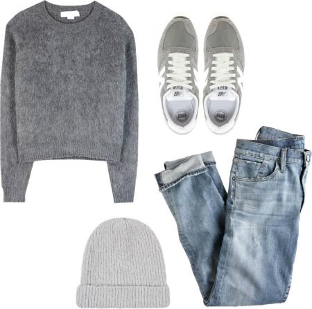 grey flat lay