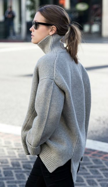 grey funnel neck