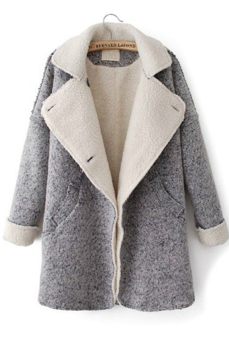 grey shearling